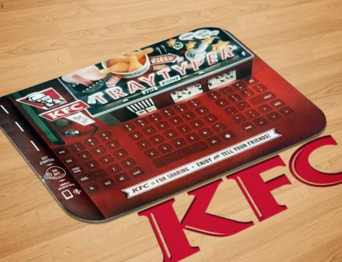 KFC y su nuevo mantel que sirve como teclado inalámbrico
